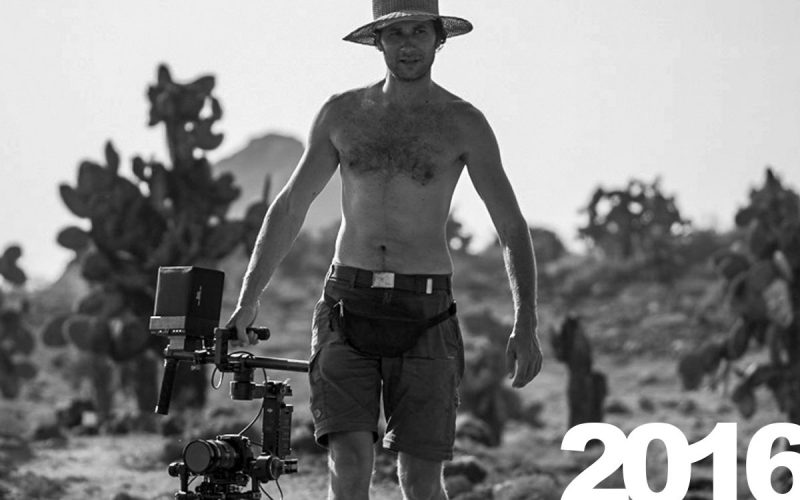 Michael Riegler bei Dreharbeiten für Wildes Galapagos